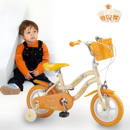 儿童脚踏自行车(黄)