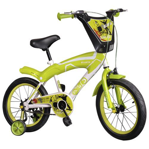 寶貝樂 16吋街頭塗鴉兒童腳踏車/自行車-綠色(BESX1602G)