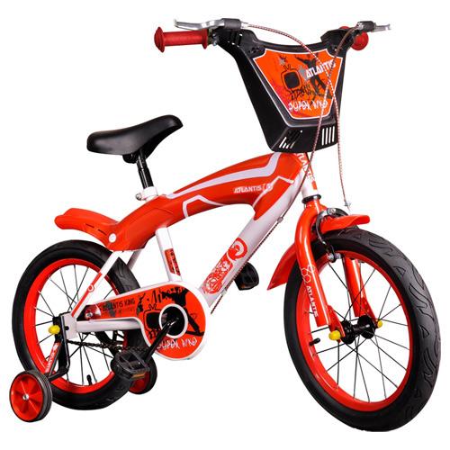 寶貝樂 16吋街頭塗鴉兒童腳踏車/自行車-紅色(BESX1602R)
