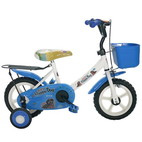 Adagio 12吋酷樂狗輔助輪童車附置物籃-藍色(BEYJ128B)