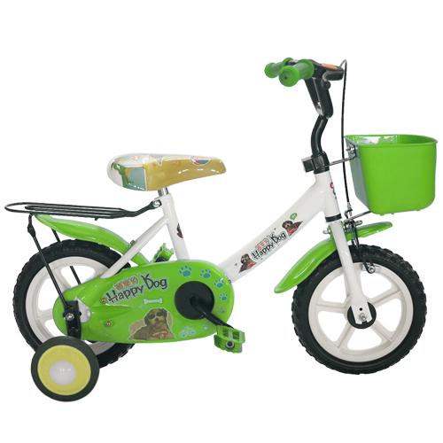 Adagio 12吋酷樂狗輔助輪童車附置物籃-綠色(BEYJ128G)