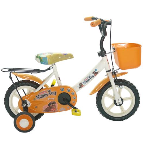 Adagio 12吋酷樂狗輔助輪童車附置物籃-橘色(BEYJ128G)