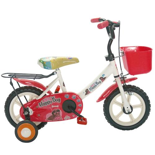 Adagio 12吋酷樂狗輔助輪童車附置物籃-紅色(BEYJ128R)