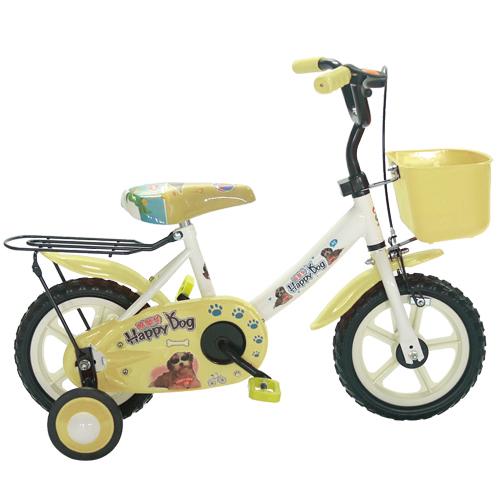 Adagio 12吋酷樂狗輔助輪童車附置物籃-米色(BEYJ128W)
