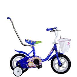 【Adagio】12吋大頭妹童車附置物籃(藍)~台灣製造(ME0047B)