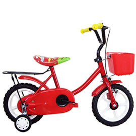 【Adagio】12吋悠遊童車附置物籃(紅)~台灣製造(ME0046R)