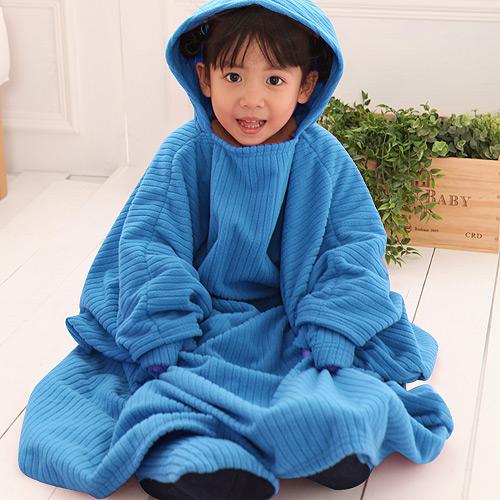 【床之戀】台灣精製超輕保暖纖維兒童保暖手套+鞋組(藍)-3M吸濕快乾處理布(MG0068B)