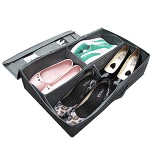 【SoEasy】竹炭4格視窗鞋靴整理箱42L-可自由分隔(MP0079)