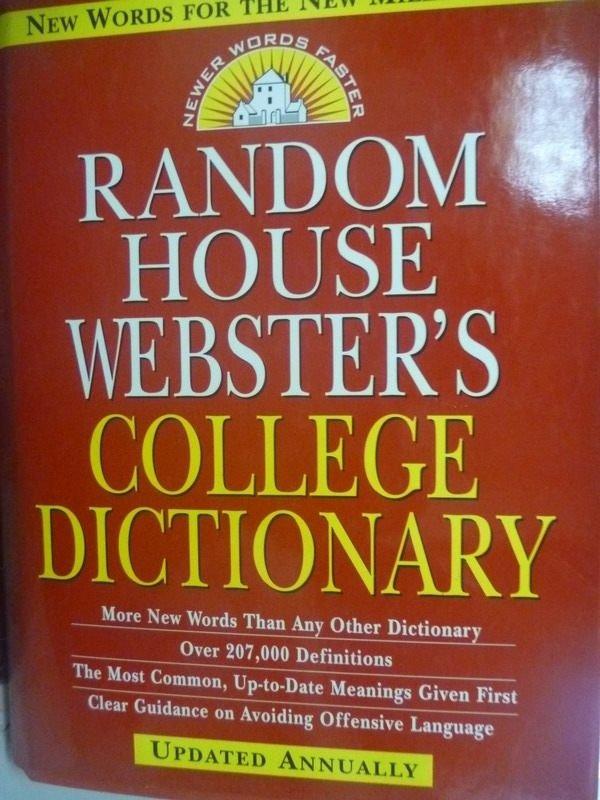 【書寶二手書T9/字典_ZHU】Random House Websters College