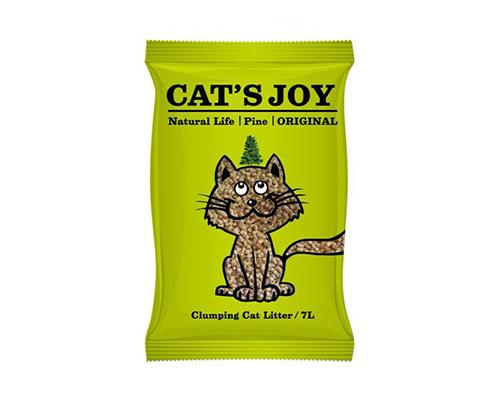 喜樂貓Cat's Joy 天然松木砂-抗菌除臭-原木凝結型7L-綠包