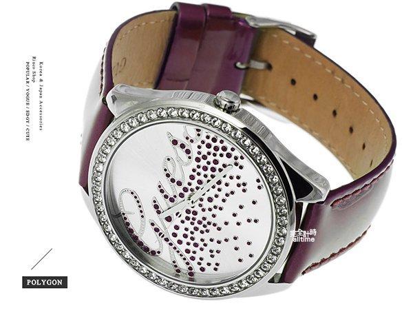【完全計時】手錶館│美國時尚精品配件-GUESS閃粉名媛高調 香檳酒 晶鑽紫色GWW70036L4
