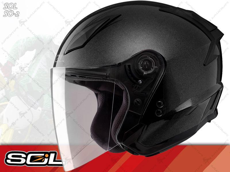 SOL安全帽 SO-2 / SO2 鑽石銀【簡約輕化.可加下巴】 半罩帽 『耀瑪騎士生活機車部品』