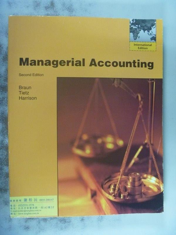 【書寶二手書T2/大學商學_PGF】Managerial Accounting_Karen