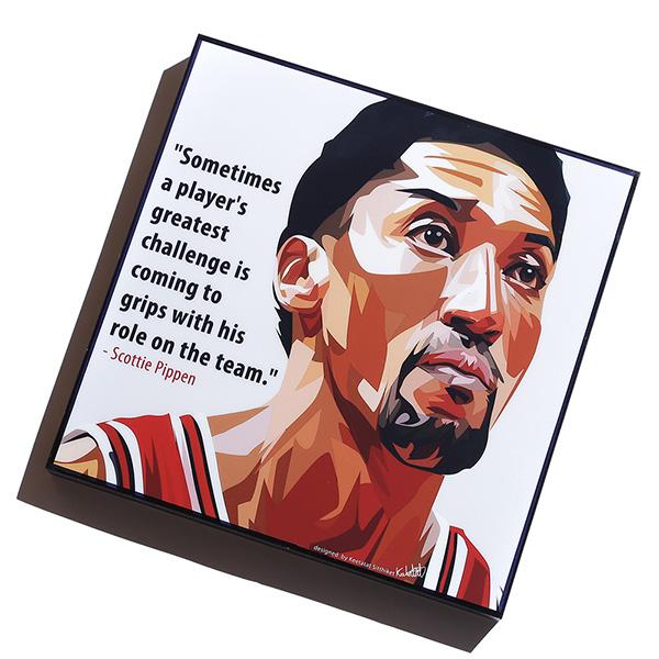 【EST】FAMOUS POP ART 普普風 掛畫 PIPPEN NBA 公牛 皮朋 [FS-0059-XXX] G0606
