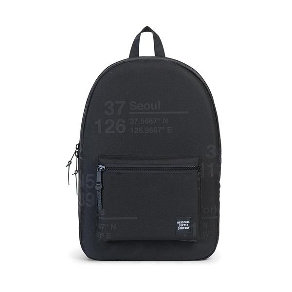 【EST】HERSCHEL SETTLEMENT 15吋電腦包 後背包 城市緯度 黑 [HS-0005-B46] G0801