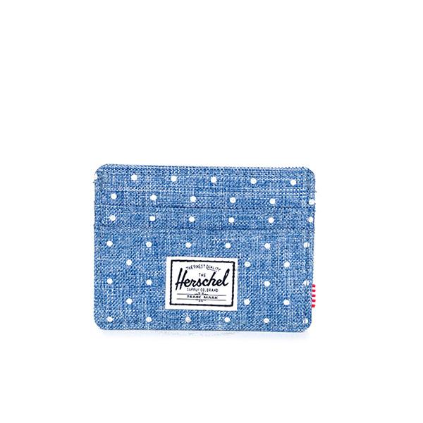 【EST】HERSCHEL CHARLIE 橫式 卡夾 名片夾 證件套 丹寧 點點 [HS-0045-912] G0706