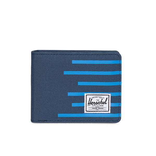 【EST】HERSCHEL ROY WALLET 短夾 皮夾 錢包 OFFSET系列 條紋 藍 [HS-0069-A42] G0706