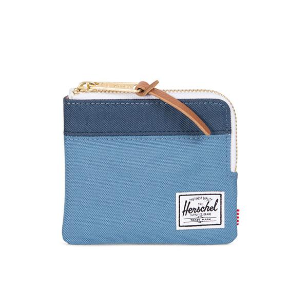 【EST】HERSCHEL JOHNNY WALLET 小皮夾 零錢包 拼色 藍 [HS-0094-A58] G0414