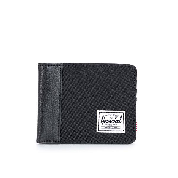 【EST】HERSCHEL EDWARD WALLET 短夾 皮夾 錢包 荔枝皮 黑 [HS-0133-165] G0122