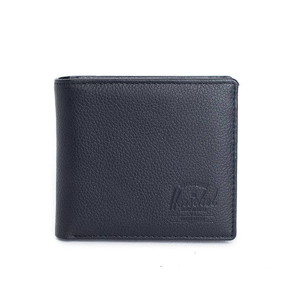 【EST】HERSCHEL HANK LARGE WALLET 短夾 皮夾 零錢包 皮革 黑 [HS-0199-004] G0122