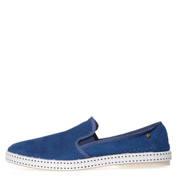 【EST】Rivieras 30度° 3036 洞洞 麂皮 懶人鞋 藍 [RV-3036-488] F0805