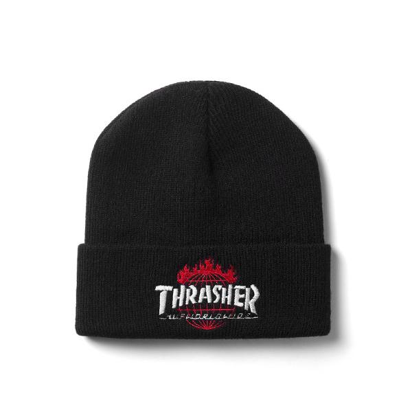 【EST】Thrasher X Huf Tds Beanie 聯名毛帽 黑 [TH-0005-002] G1205