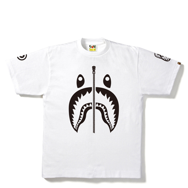 【EST O】A Bathing Ape Shark 鯊魚短tee #1 白 G0908
