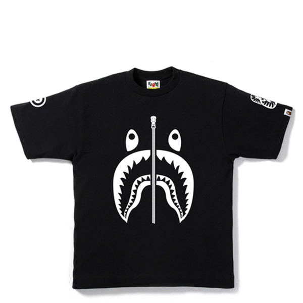 【EST O】A Bathing Ape Shark 鯊魚短tee #1 黑 G0908