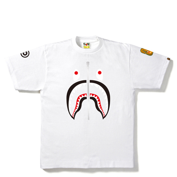 【EST O】A Bathing Ape Shark 鯊魚短tee #2 白 G0908