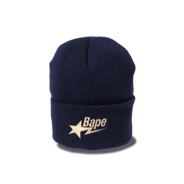 【EST O】A Bathing Ape Bape Sta Knit Cap 毛帽 藍 G1004
