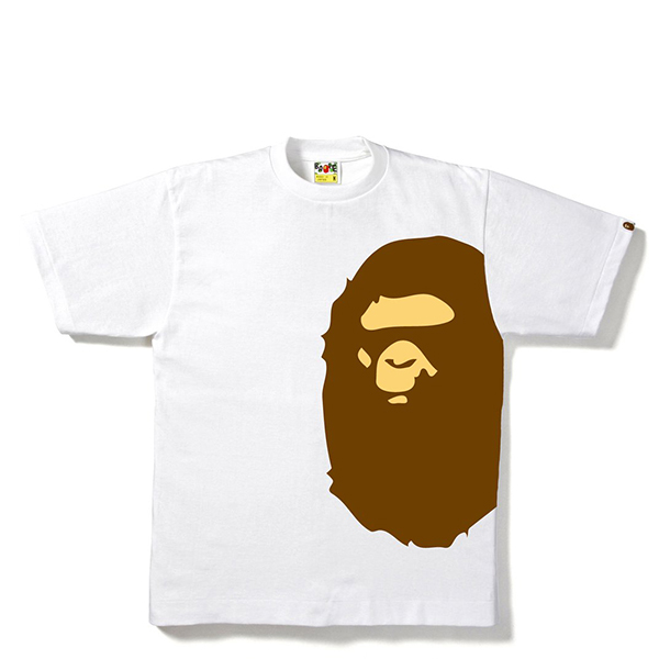 【EST O】A Bathing Ape Pigment Side Big Ape Head Tee 白 G0908