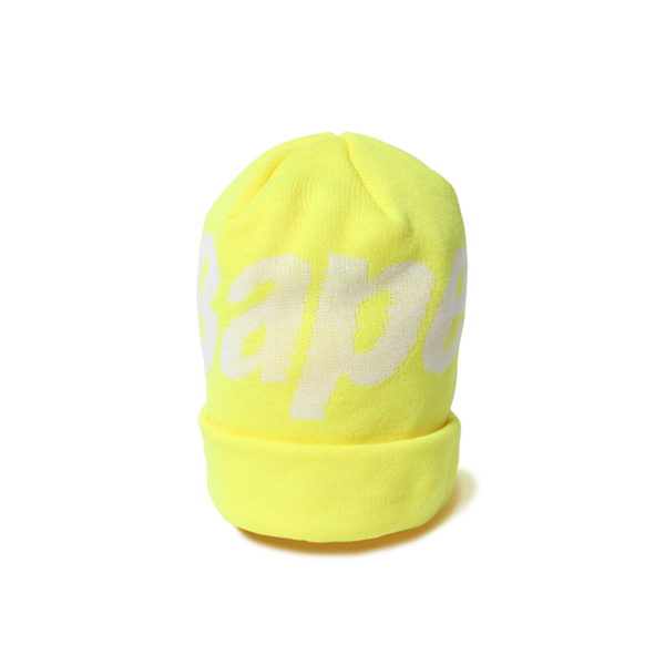 【EST O】A Bathing Ape Bape Knit Cap 毛帽 黃 G1004