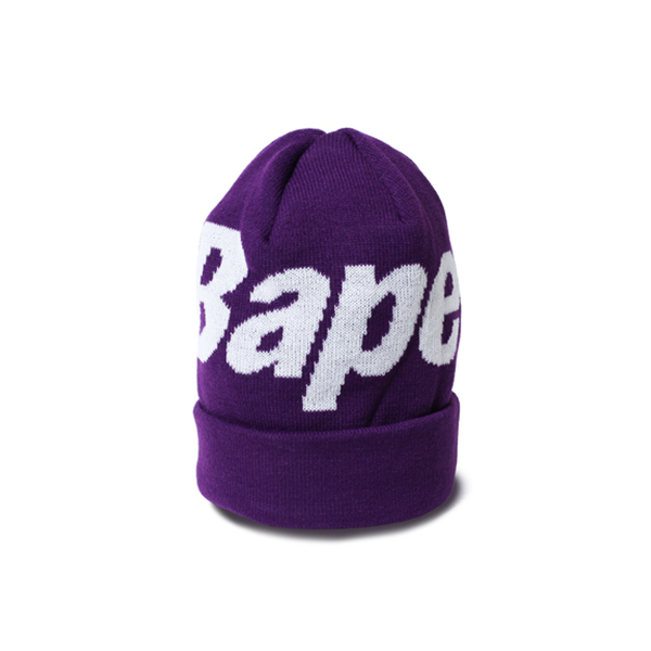 【EST O】A Bathing Ape Bape Knit Cap 毛帽 紫 G1004