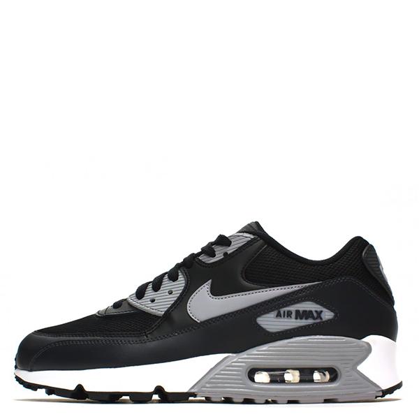 【EST S】Nike Air Max 90Essential 2016 537384-056 黑灰皮革氣墊慢跑鞋 男鞋 G1012
