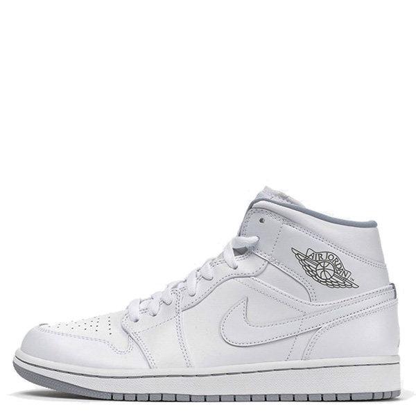 【EST S】Nike Air Jordan 1 Mid Aj1 Bred 554724-112 皮革 中筒 男鞋 白 G1011