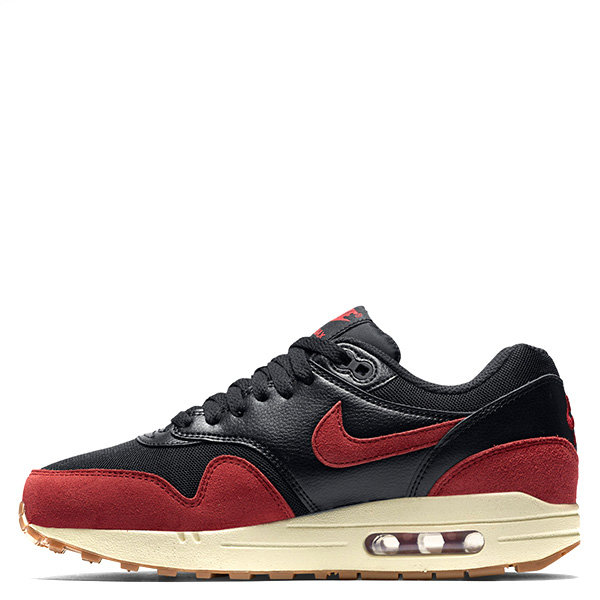 【EST S】Nike Air Max 1 Essential 599820-018 麂皮 慢跑鞋 女鞋 黑紅 G1011