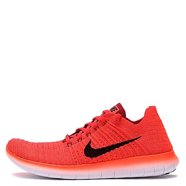【EST S】Nike Free Rn Flyknit 831069-600 編織赤足慢跑鞋 橘紅黑白 G1111