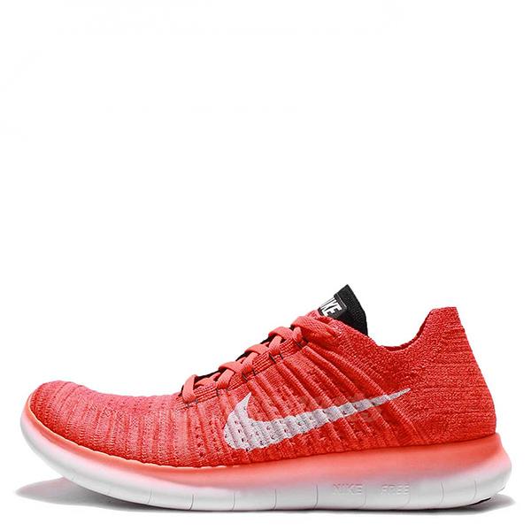 【EST S】Nike Free Rn Flyknit 831069-601 編織赤足陰陽慢跑鞋 橘色白勾 G1111