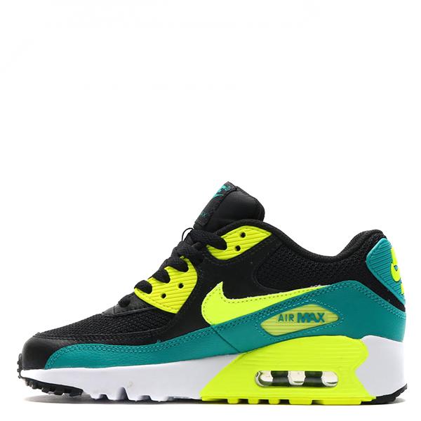 【EST S】Nike Air Max 90 Mesh Gs 833418-004 運動鞋 黑綠 G1111