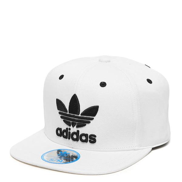 【EST S】Adidas Originals Snapback Cap S95079 三葉草 棒球帽 白 G1205