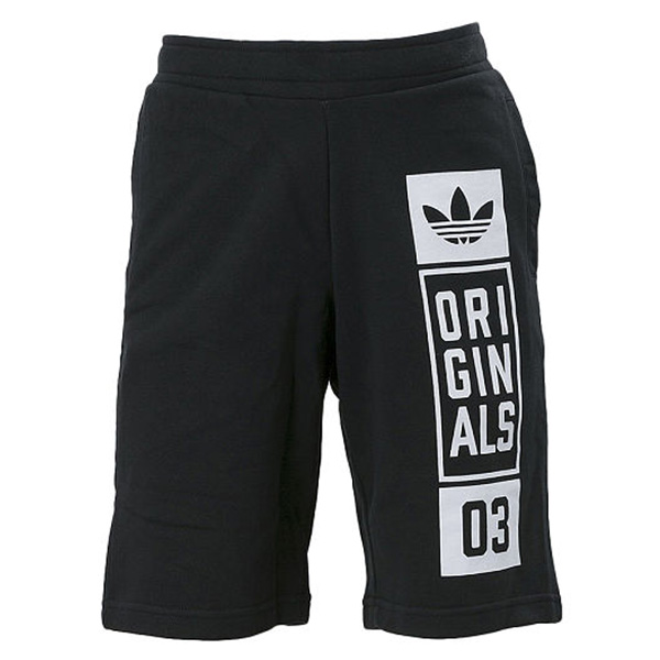 【EST S】Adidas Originals Street Graphic Short AJ7634 短褲 五分褲 棉褲 黑 G0818