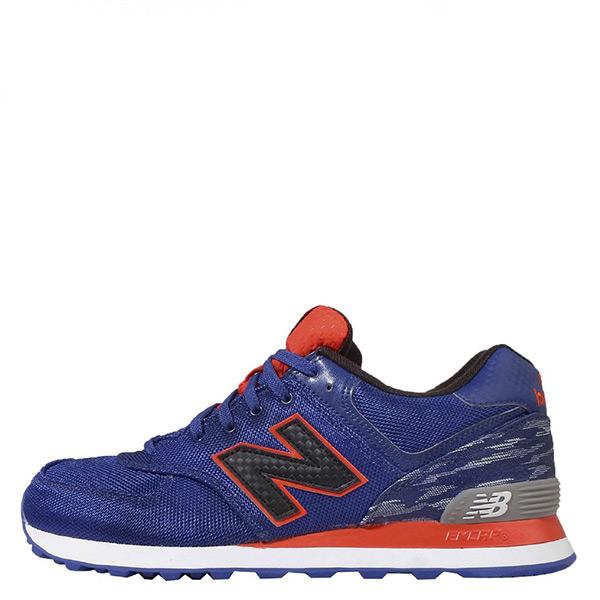 【EST S】New Balance 574系列 ML574SIA D楦 復古慢跑鞋 藍黑橘 男鞋 G1125