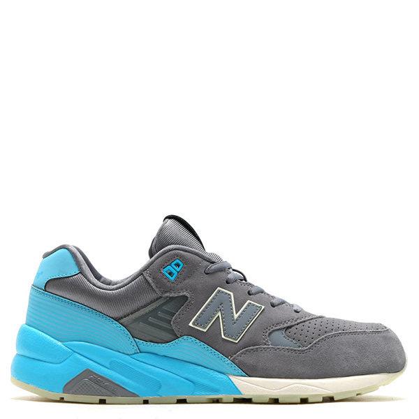 【EST S】New Balance 580系列 MRT580UR D楦 反光果凍底麂皮慢跑鞋 灰藍 男女鞋 G1125