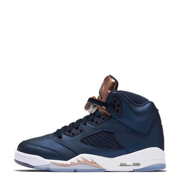 【EST S】Nike Air Jordan 5 Bg 440888-416 奧運 銅牌 深藍 大童鞋 G1126