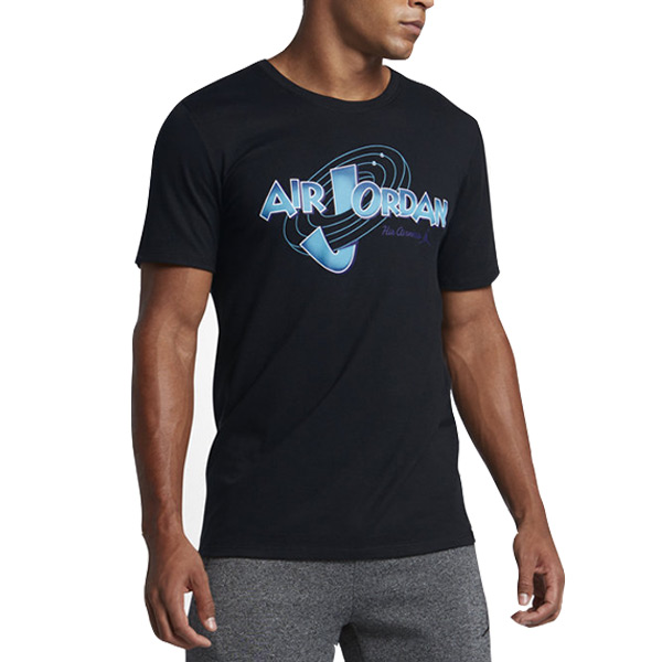 【EST S】Nike Jordan 11 Space Jam 823719-010 怪物奇兵 短tee 黑 G1126