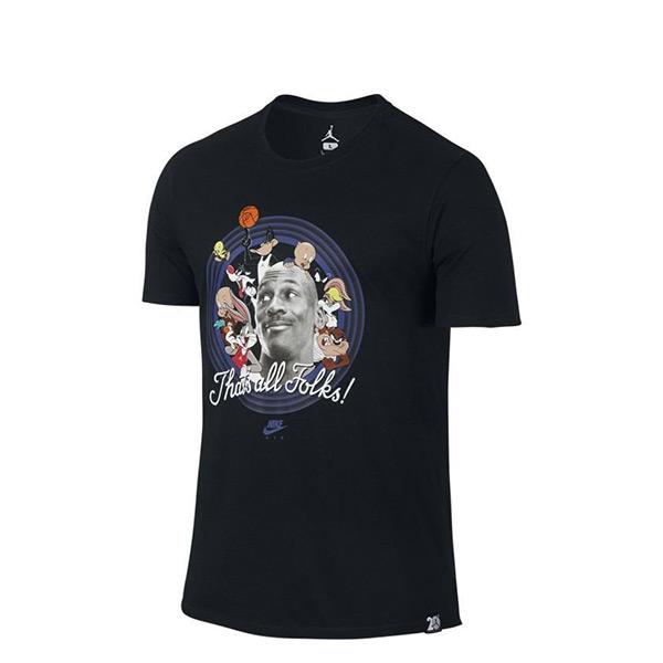 【EST S】Nike Jordan 11 Space Jam 824359-010 怪物奇兵 短tee 黑 G1126