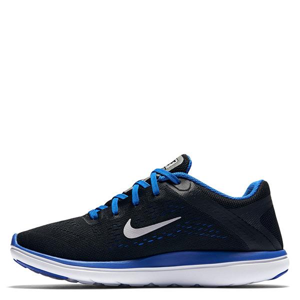 【EST S】Nike Flex 2016 Rn Run 834275-005 慢跑鞋 黑藍銀勾 大童鞋 G1116