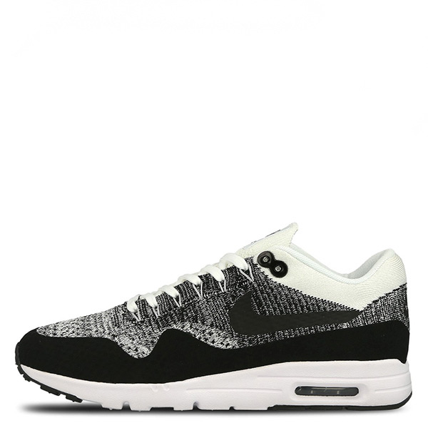 【EST S】Nike Air Max 1 Ultra Flyknit 843387-100 慢跑鞋 黑灰白 女鞋 G1116