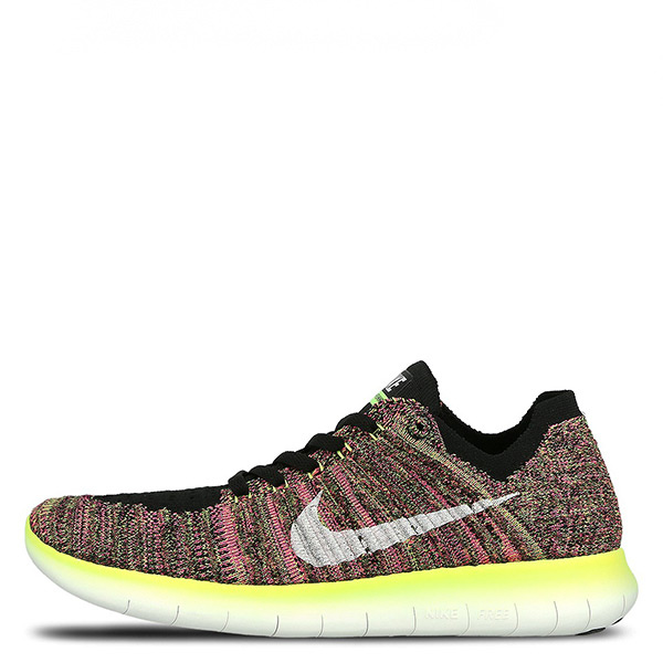 【EST S】Nike Free Rn Flyknit 843431-999 慢跑鞋 彩虹編織 螢光綠 女鞋 G1116