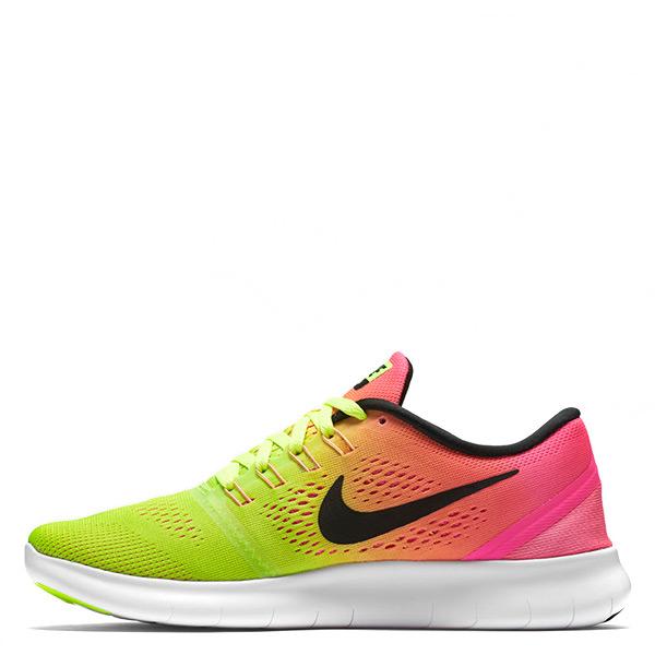 【EST S】Nike Free Rn Oc 844630-999 赤足慢跑鞋 黃彩虹漸層 女鞋 G1116